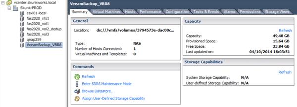 vPower NFS datastore