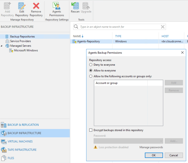 Use Veeam Backup & Replication Free Edition to collect Veeam