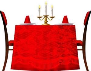 tafeltje met rood voor grafische design trends