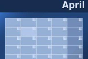 kalender van april