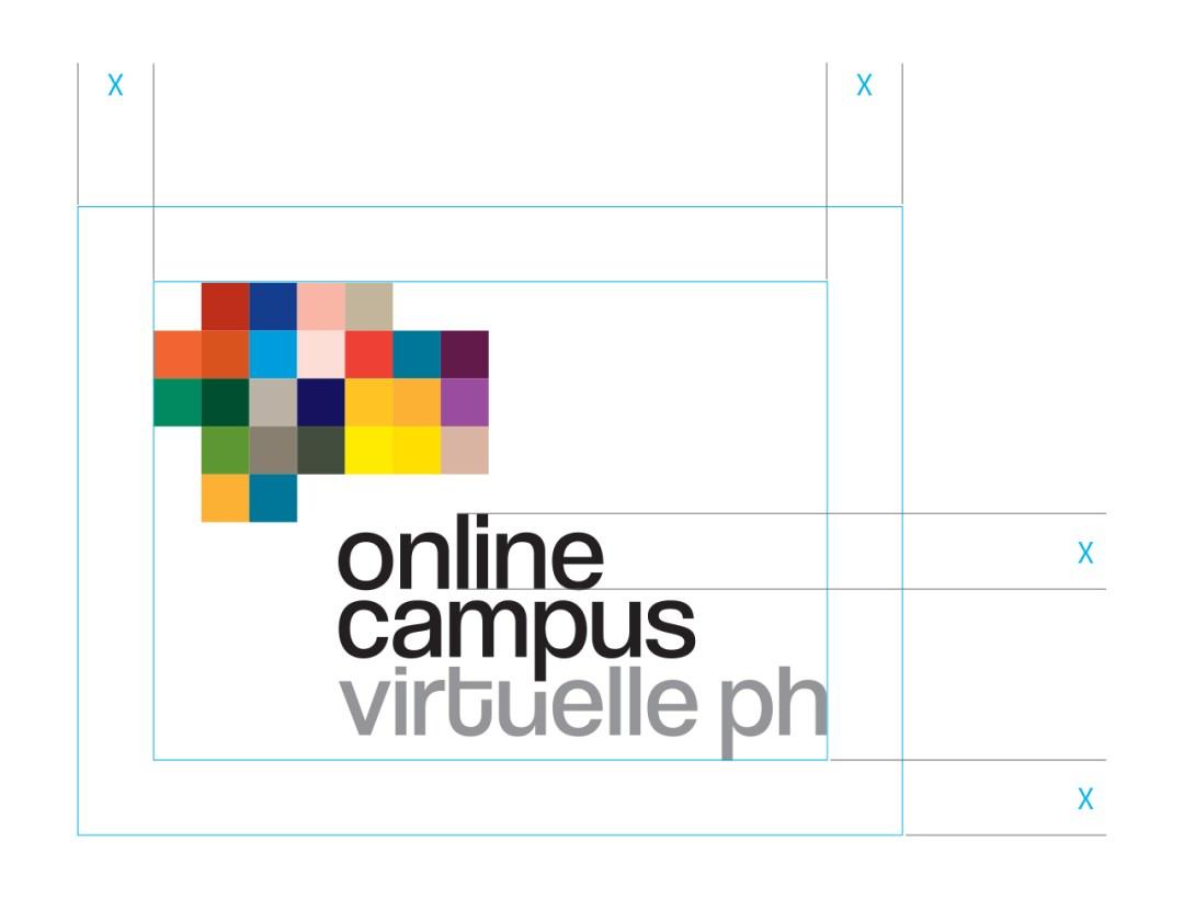 """Erklärung: Verwendung des Logos mit Schutzzone in Höhe des """"i"""" rund um die Logomarke"""