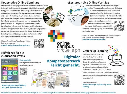 Download: eEducation Infoblatt. Übersicht über alle Angebot der VPH