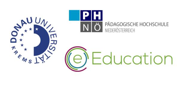 Bild: Alexander Neubach, Logos: Mit freundlicher Genehmigung: Donau-Universität-Krems, Pädagogische Hochschule Niederösterreich und eEducation