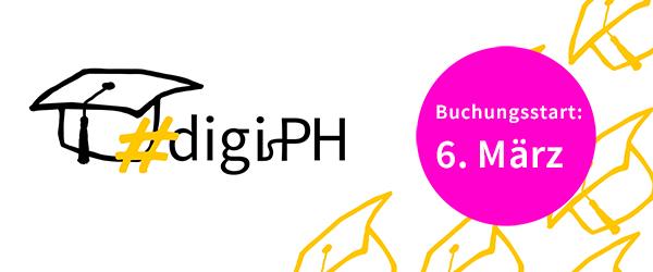 6. März: Buchungsstart Online-Tagung Hochschule digital.innovativ | #digiPH