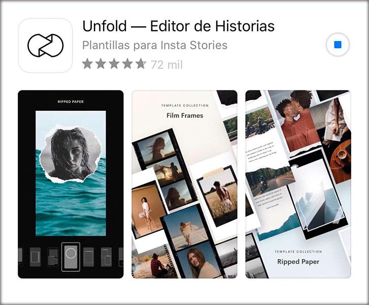7 Aplicaciones de instagram que deberías conocer. Unfold