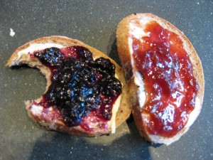 Baking bread and making berry jam = heaven 2