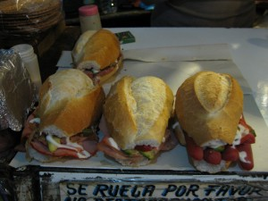 Mexican bread, tortas