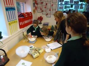 Baking with children at Sarum Hall School 4