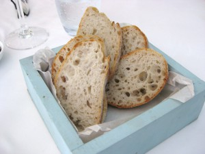 Lovely box of bread with holes