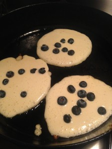 Pancakes with blueberries...
