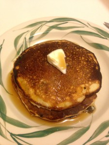 Yum!  The best pancakes in the world!  Made with sourdough.