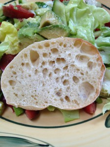 Ciabatta slice - lots of holes - in this case not too big - from LPA