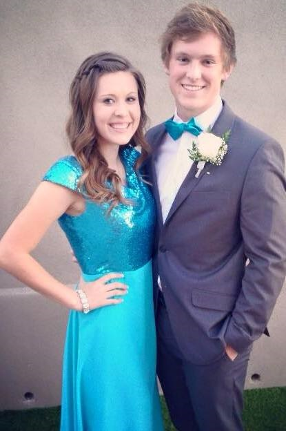 Madison Modest Tiffany Blue Prom Dress