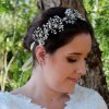 Silvia Silver and Faux Pearl Bridal Headpiece