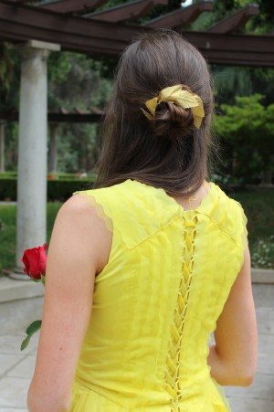 Belle's Gold Leaf Hair Bun Holder