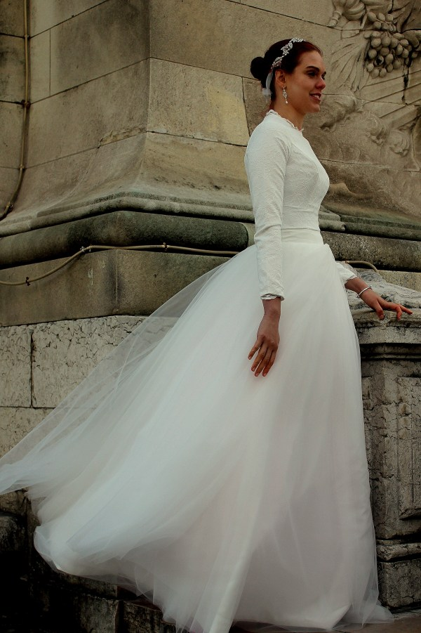 Sasha Tznius Modest Wedding Dress