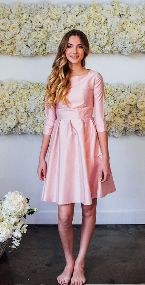 Nutcracker Fit & Flare Dress in Light Pink