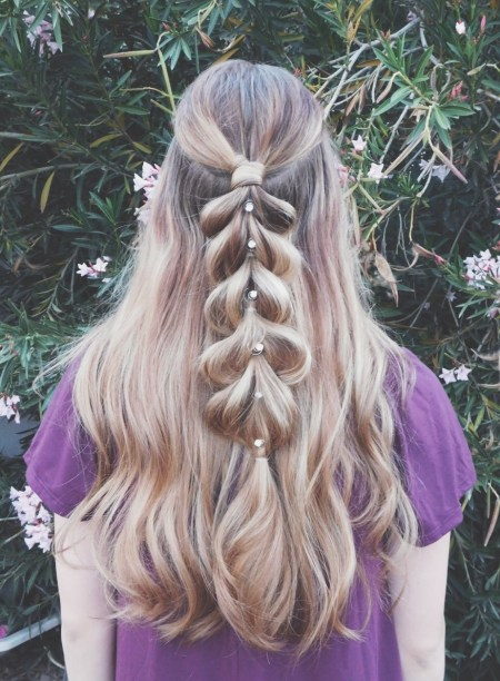 Half Up Pull-Through Braid
