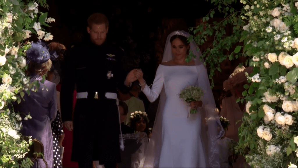 The Royal Couple Greet the Crowds