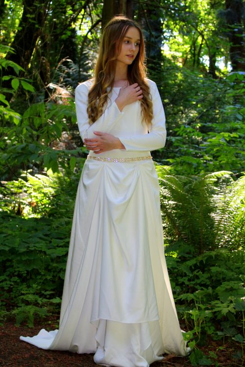 Isabella Ivory Modest Medieval Celtic Princess Inspired Wedding Dress