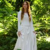 Isabella Ivory Modest Medieval Lord of the Rings Inspired Wedding Dress
