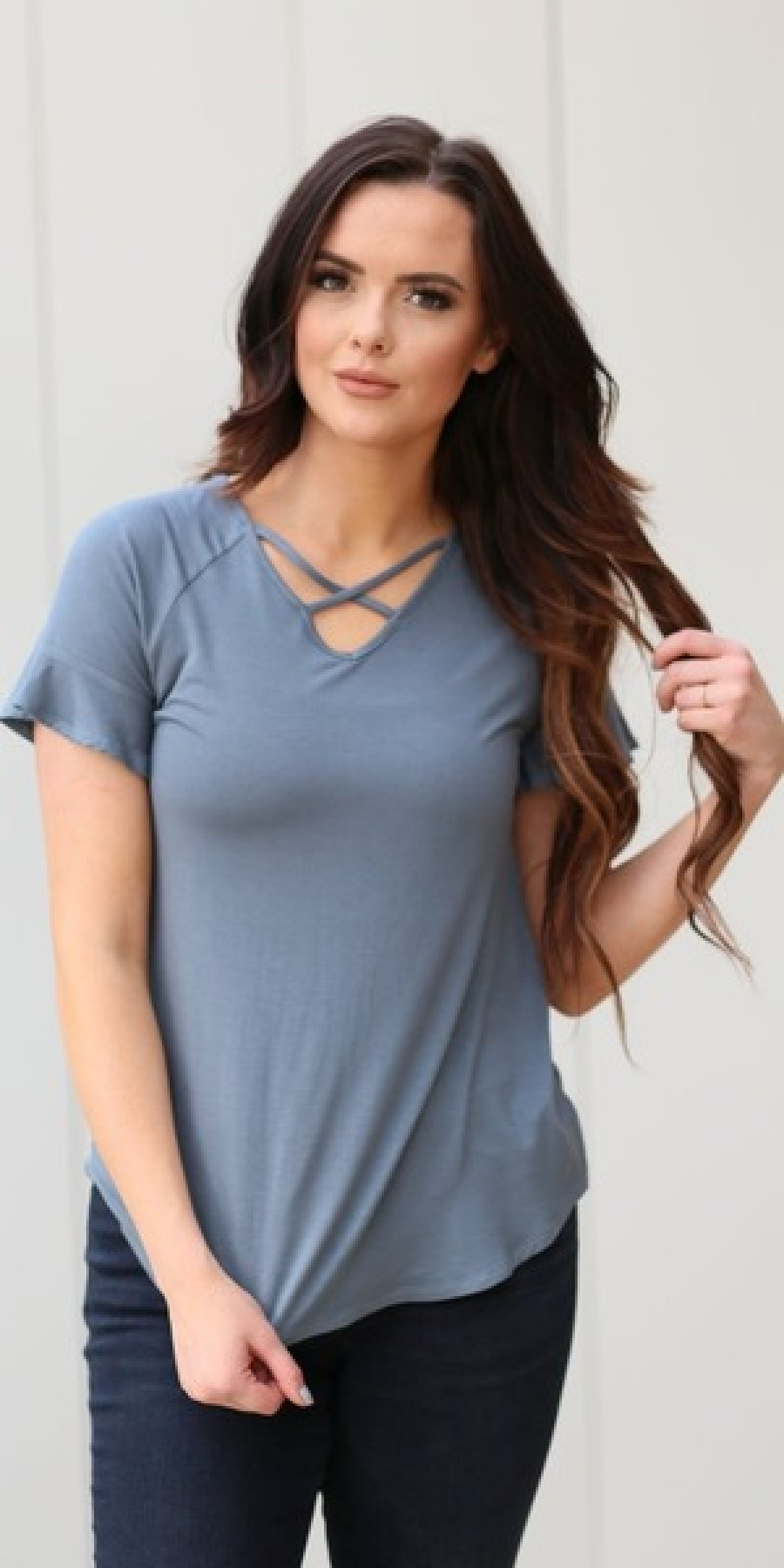 Criss Cross Top from Great Lengths Clothing
