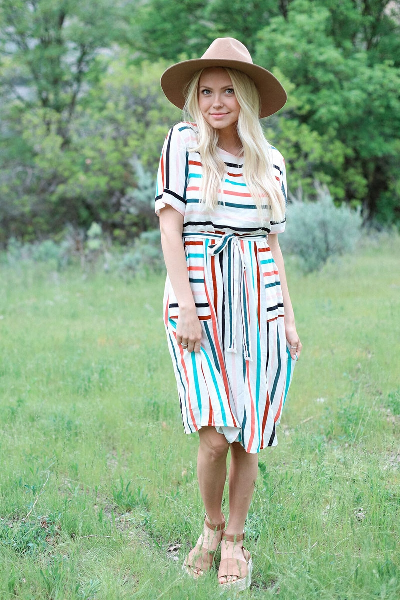 Mikarose Mdoest Striped Dress