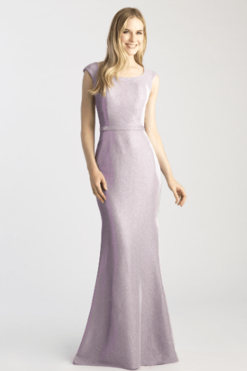 Madison James Modest Purple Formal Dress Sleeves