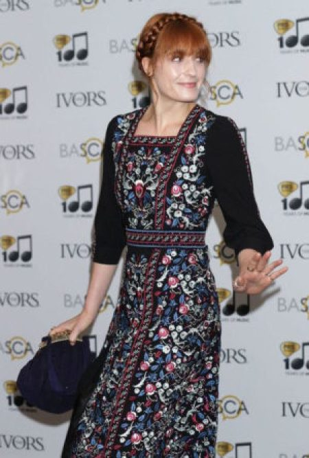 Florence Welch Vilshenko Fall 2014 embroidered dress 59th Ivor Novello Awards London England