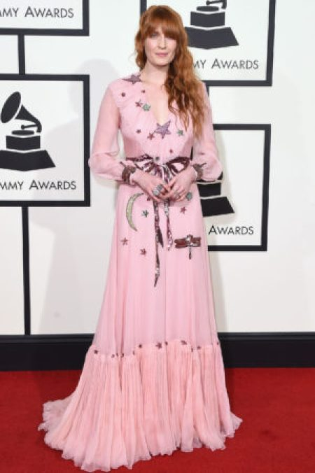 Florence Welch Wearing Gucci 2016 Grammy Awards