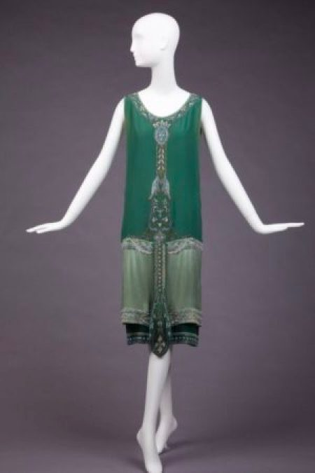 1920's Beaded Flapper Evening Gown
