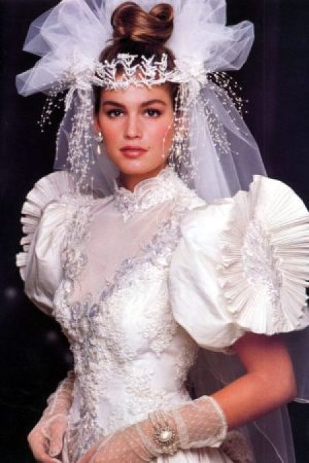 1980's Wedding Headdress