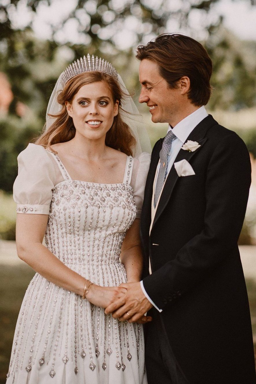 Princess Beatrice Wearing Queen Mary Fringe Tiara
