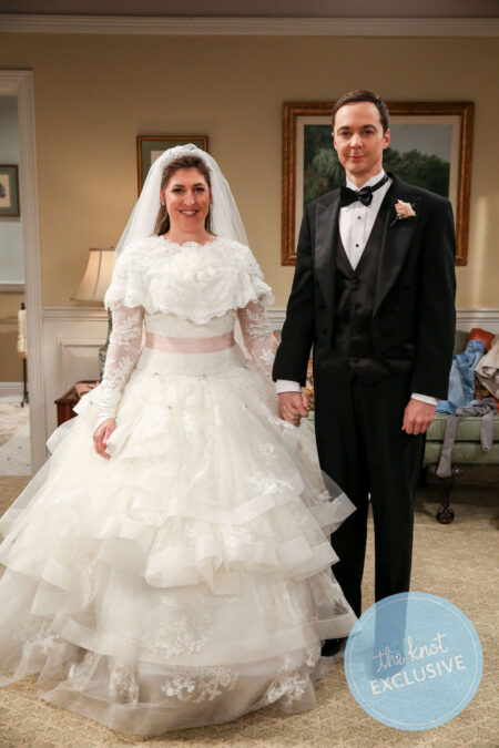 Amy Farrah Fowler Modest Wedding Dress Big Bang Theory