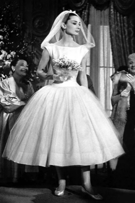 Audrey Hepburn Funny Face Modest Wedding Dress
