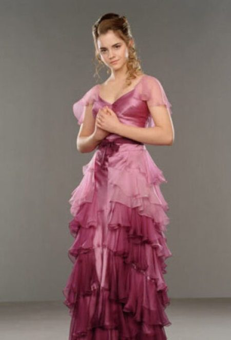 Hermione Granger Yule Pink Ombre Ball Gown