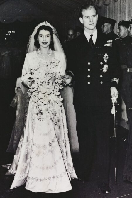 Queen Elizabeth II Modest Wedding Dress