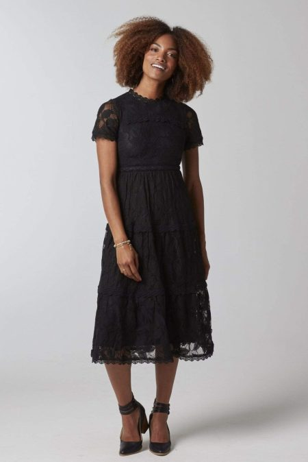 Downeast Modest Black Lace Dress