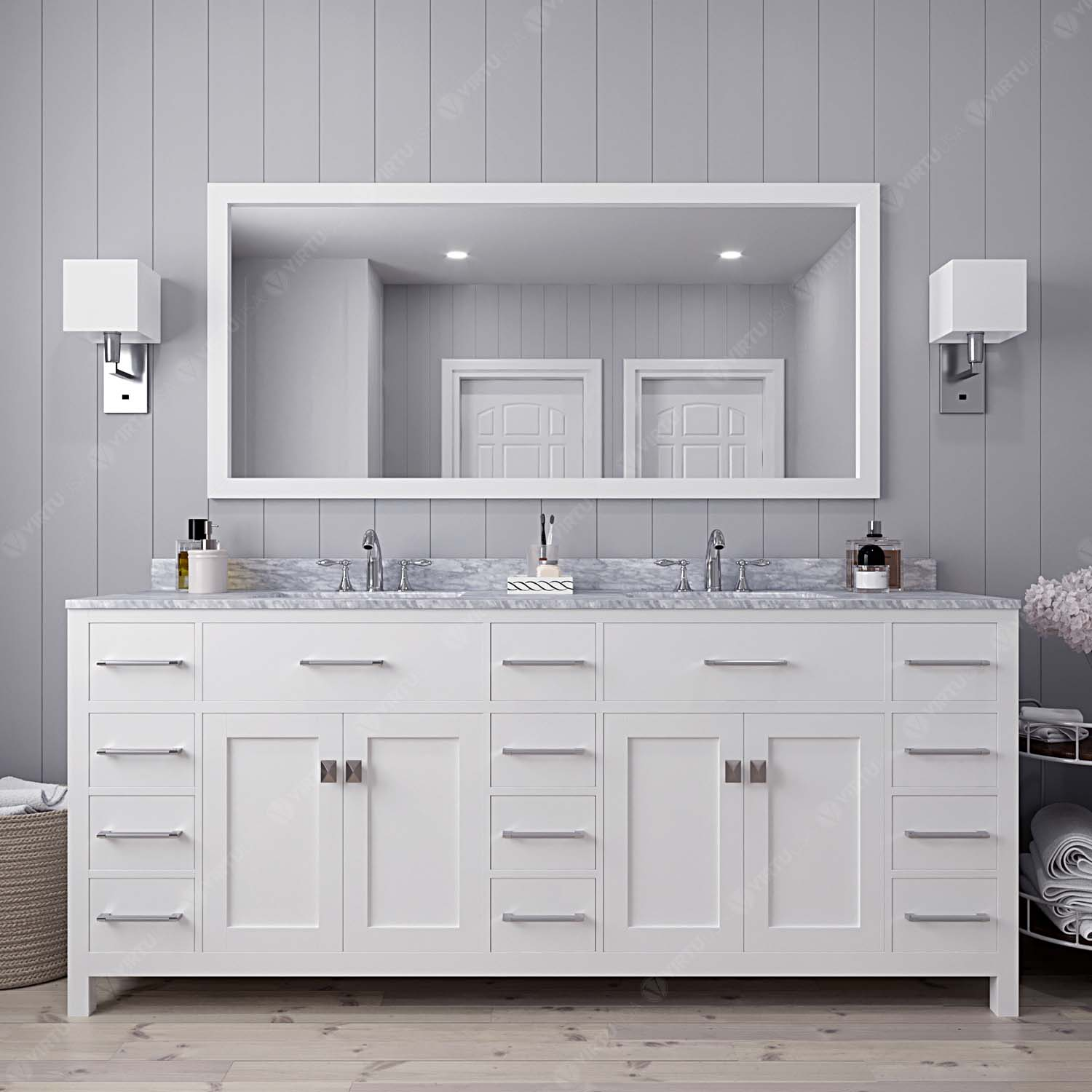 Caroline Parkway 78 Double Vanity Md 2178 Bathroom Vanities Virtu Usa