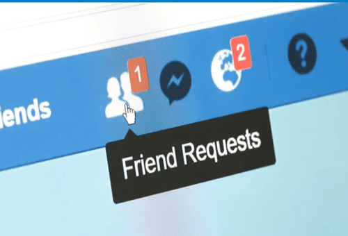 View of friends Request on Facebook