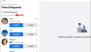 View Facebook friends Request