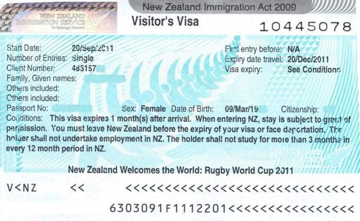 làm visa đi New zealand