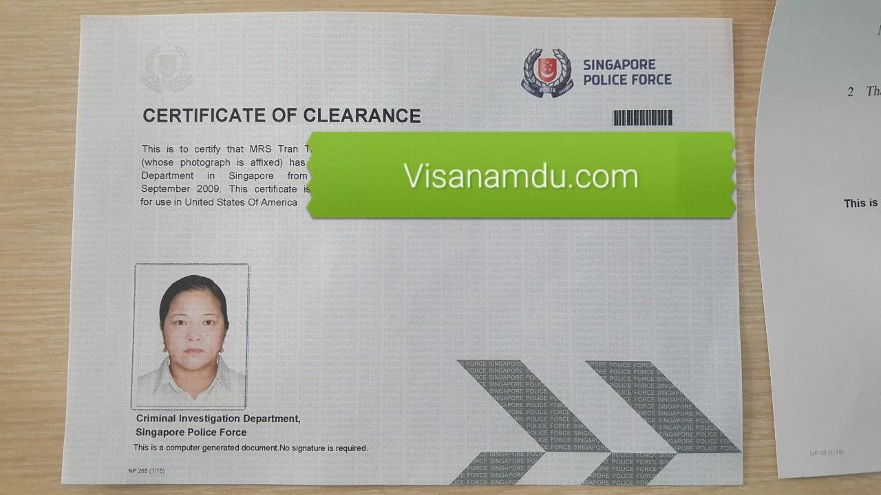 lý lịch tư pháp singapore