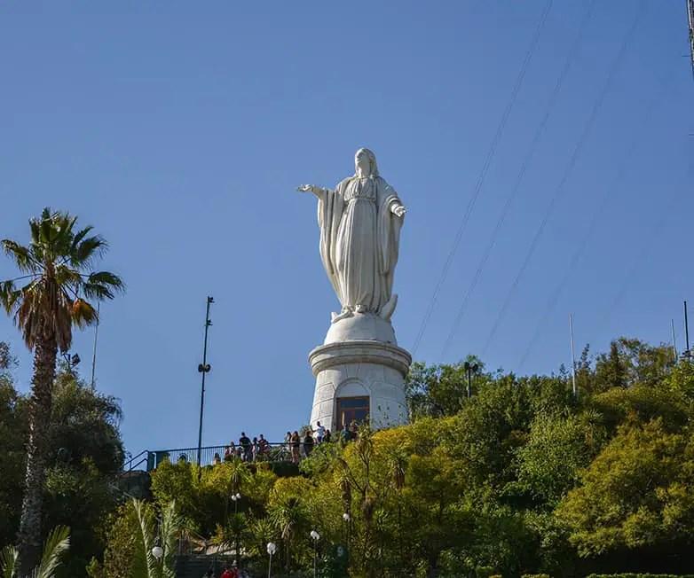 cerro san cristobal in santiago chile
