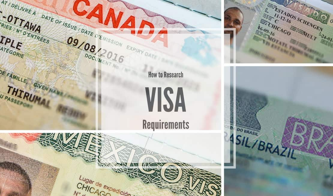 how to research visa requirements for all countries