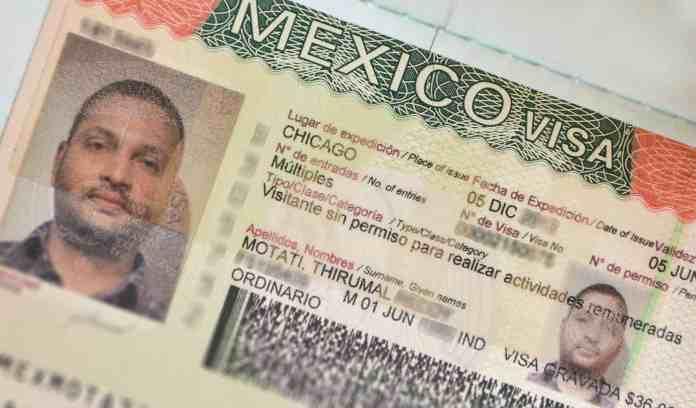 Mexico Tourist Visa Image