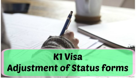 K1 visa adjustment of status forms and paperwork
