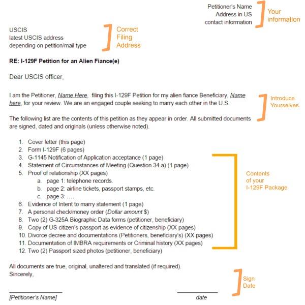 I-129F Cover Letter « Visa Tutor
