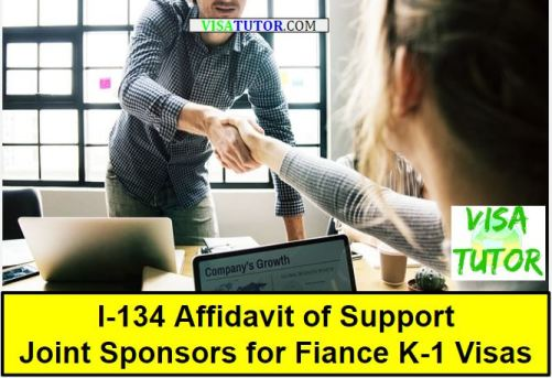 Joint sponsors for the I-134 Affidavit of Support help fiance K-1 visa cases with minimum poverty limits