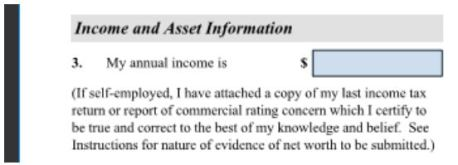 it's important to accurately understand your tax returns 1040 so you can fill out the I-134 Affidavit of support